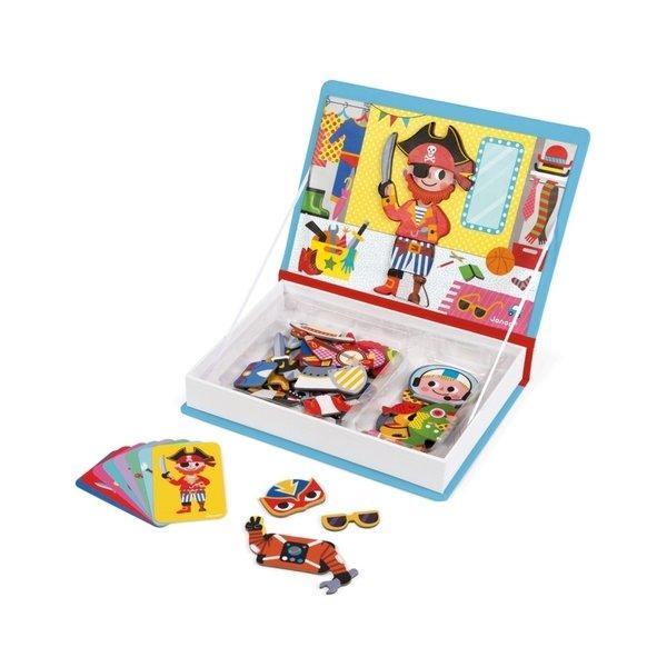 Купить Магнитная книга Janod Наряды для мальчика (J02719)