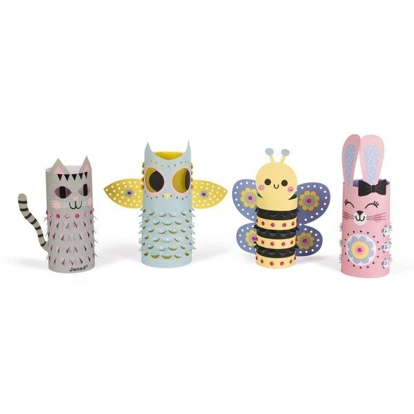 Купить Набор для творчества Janod Фонарики Животные (J07781)