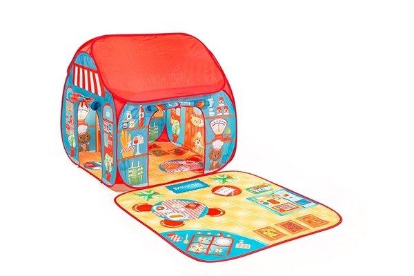 Купить Игровая палатка Pop-it-Up Ресторан-магазин с игровым ковриком (F2TO15102)