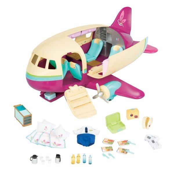 Купить Игровые наборы, Игровой набор Lil Woodzeez Самолет (6153), LI L WOODZEEZ