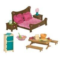 Игровой набор Lil Woodzeez Спальня и столовая (6127Z)