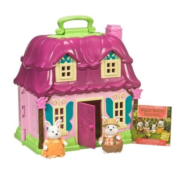 Купить Игровой набор Lil Woodzeez Цветочный дом и Семья Кроликов (6103M), LI L WOODZEEZ