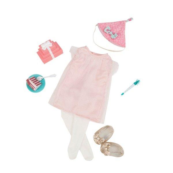 Купить Набор одежды для кукол Our Generation Deluxe для День рождения с аксесуарами (BD30229Z)
