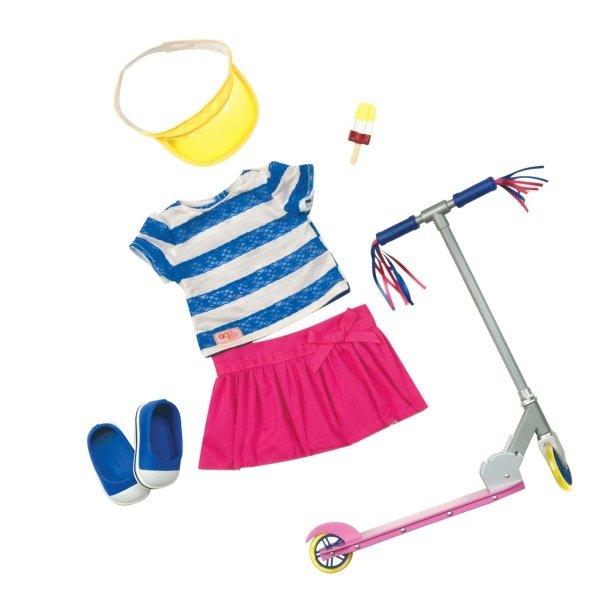 Купить Набор одежды для кукол Our Generation Deluxe с самокатом и аксесуарами (BD30200Z)