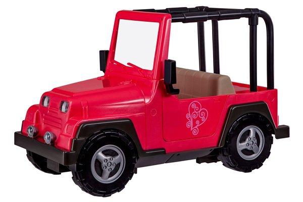 Купить Транспорт для кукол Our Generation Розовый джип с черной рамкой (BD37277Z)