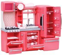 Набор мебели Our Generation Кухня для гурманов 94 аксессуара розовая (BD37365Z)
