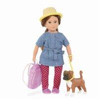 Кукла LORI Надин и собака боксер Наш 15 сантиметров (LO31024Z)