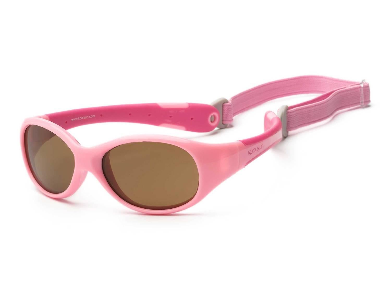 Детские солнцезащитные очки Koolsun Flex розовые (Размер 0+) (KS-FLPS000) 8599ce0e10223