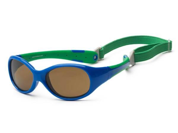 Купить Детские солнцезащитные очки Koolsun Flex зеленые (Размер 3+) (KS-FLRS003)