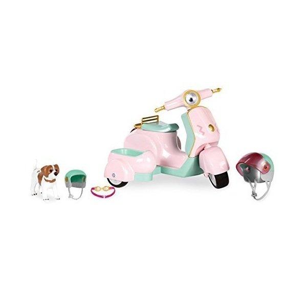 Купить Транспорт для кукол LORI Скутер с коляской и собачкой (LO37034Z)