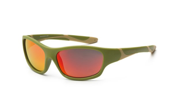 Купить Детские солнцезащитные очки Koolsun Sport хаки (Размер 6+) (KS-SPOLBR006)