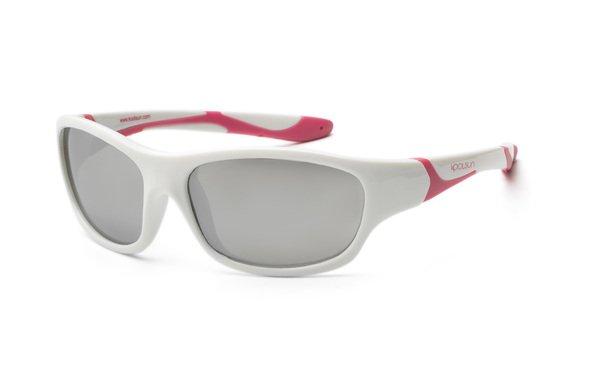 Купить Детские солнцезащитные очки Koolsun Sport бело-розовые (Размер 6+) (KS-SPWHCA006)