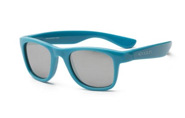 Купить Детские солнцезащитные очки Koolsun Wawe голубые (Размер 1+) (KS-WACB001)