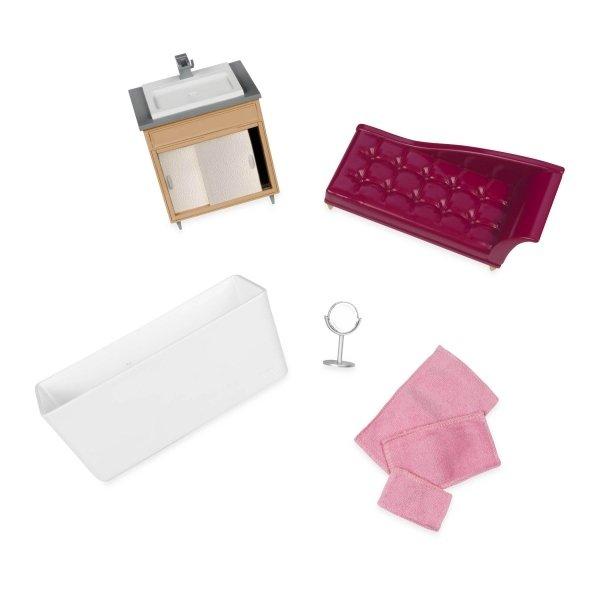 Купить Набор для кукол LORI Мебель для ванной (LO37029Z)