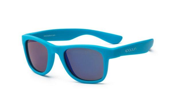 Купить Детские солнцезащитные очки Koolsun Wawe неоново-голубые (Размер 3+) (KS-WANB003)