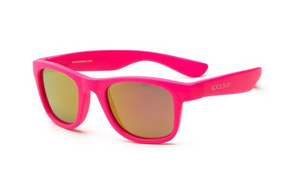Купить Детские солнцезащитные очки Koolsun Wawe неоново-розовые (Размер 1+) (KS-WANP001)