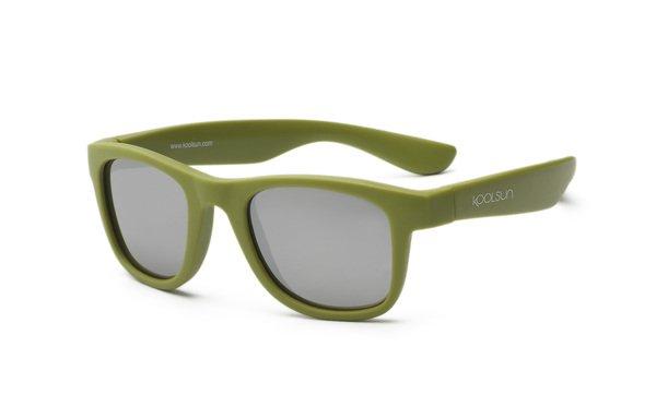 Купить Детские солнцезащитные очки Koolsun Wawe хаки (Размер 1+) (KS-WAOB001)