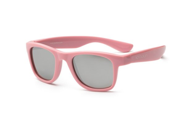 Купить Детские солнцезащитные очки Koolsun Wawe нежно-розовые (Размер 1+) (KS-WAPS001)