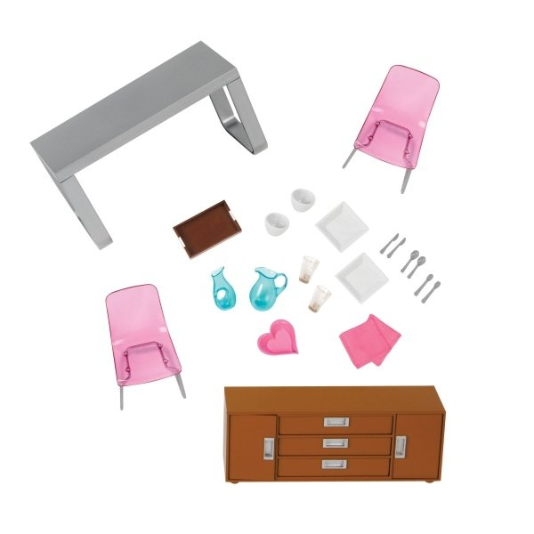 Купить Набор для кукол LORI Мебель для столовой (LO37030Z)