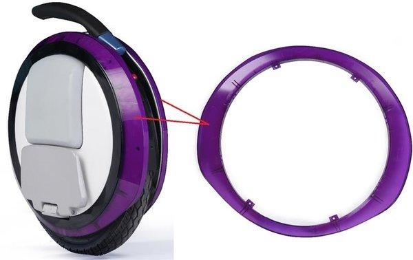 Купить Декоративная прозрачная накладка для моноколес Ninebot by Segway ONE E + Purple (10.01.2013.08)