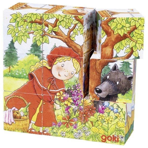 Кубики деревянные goki Время сказок ( 57542G)  - купить со скидкой