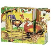 Кубики деревянные goki Ферма ( 57878G)