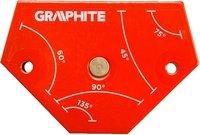 Магнитный сварочный угольник VERTO GRAPHITE 56H904