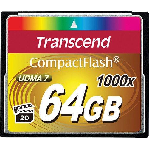 Купить Карта памяти TRANSCEND CF 64GB 1000X R160/W120 MB/s (TS64GCF1000)