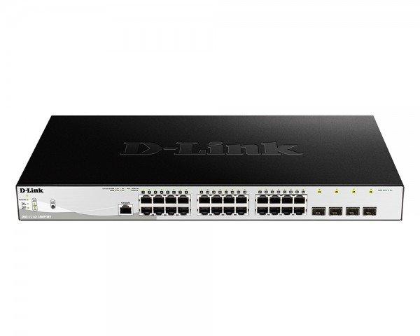 Купить Коммутаторы управляемые, КоммутаторD-LinkDGS-1210-28MP/ME24x1GEPoE, 4xSFP1G, PoEбюджет370W, Smart (DGS-1210-28MP/ME)