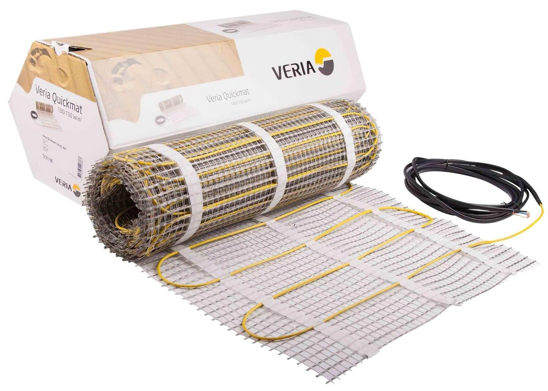Тепла підлога Veria Quickmat 150 двожильний нагрівальний мат 1800 Вт, 230V, 1,5 м2, 0,5х3м (189B0160) фото