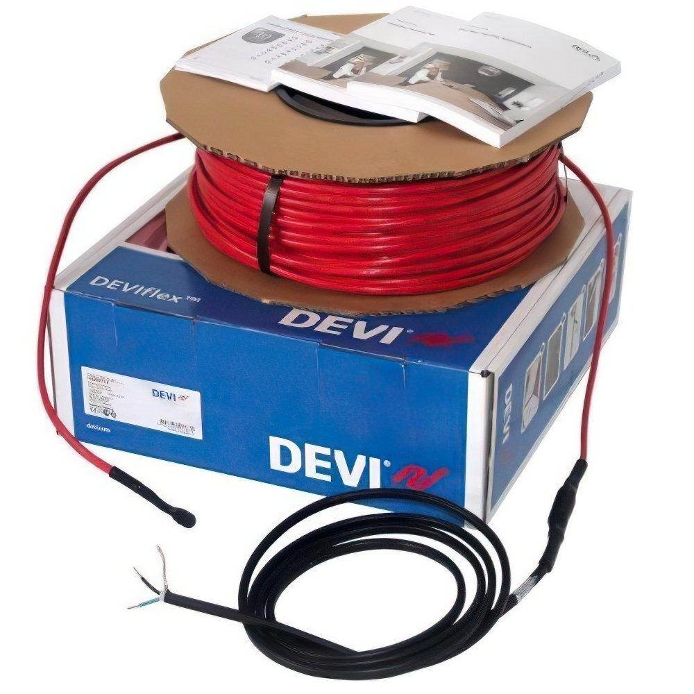 Тепла підлога DEVI Flex двожильний нагрівальний кабель 18T, 230 Вт, 230V, 12.8м (140F1400) фото