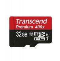 Карта памяти Transcend microSDHC 32GB Class 10 UHS-I Premium R45MB/s