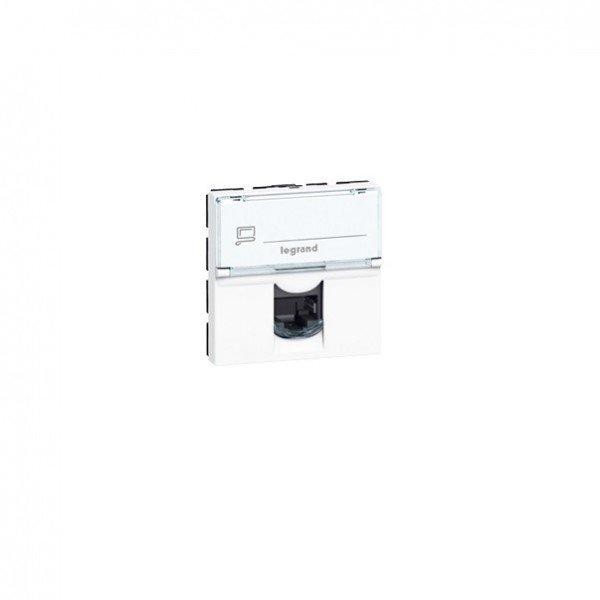 Купить Розетка MOSAIC Legrand информационная RJ45 UTP 5е (2 мод) белый