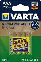 Аккумулятор VARTA RECHARGEABLE ACCU ENDLESS AAA 750 mAh BLI 4 NI-MH (56673101404)