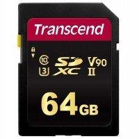 Карта памяти TRANSCEND SDXC 64GB Class 10 700S UHS-II U3 V90 R285/W180 MB/s 4K (TS64GSDC700S)
