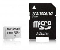 Карта памяти Transcend microSDXC 64GB Class 10 UHS-I R95/W45MB/s + SD-адаптер