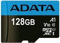 Карта памяти Adata microSDXC 128GB Class 10 UHS-I A1 + SD-адаптер