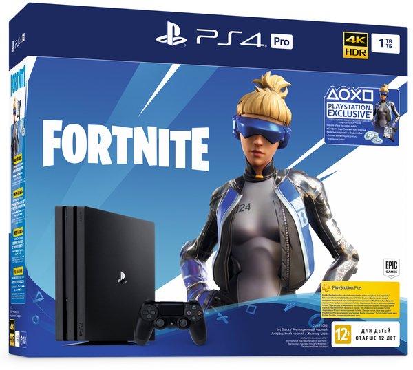 Купить Игровые приставки, Игровая приставка SONY PlayStation 4 Pro 1Tb Black (Fortnite) (9941507)