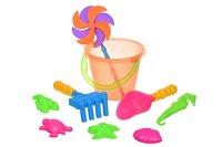 Набор для игры с песком Same Toy с Воздушной вертушкой (оранжевое ведерко) 9 шт (HY-1206WUT-4)