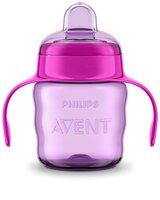 Чашка-непроливайка Avent с мягким носиком розовая 200 мл 6+ 1 шт. (SCF551/03)