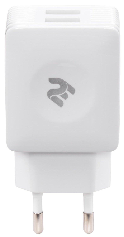 Мережевий зарядний пристрій 2E USB Wall Charger 2USBX2.1A Whiteфото1