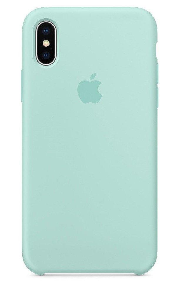 pretty nice 21a67 26a02 Чехол Apple Silicone Case для iPhone X Marine Green (MRRE2ZM/A)