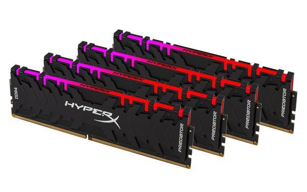 Купить Память для ПК Kingston DDR4 3200 32GB (4x8GB) HyperX Predator RGB (HX432C16PB3AK4/32)
