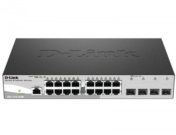 Купить Коммутаторы управляемые, КоммутаторD-LinkDGS-1210-20/ME/A16x1GE, 4xSFP, WebSmart (DGS-1210-20/ME/A)