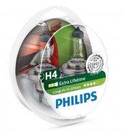 Лампа галогенная Philips H4 LongLife EcoVision (12342LLECOS2)