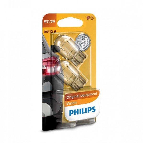 Купить Автолампы, Лампа накаливания Philips W21/5W Vision (12066B2), PHILIPS Automotive