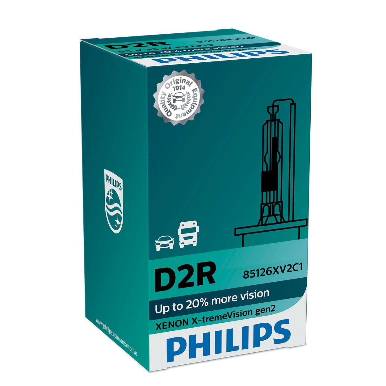 Лампа ксеноновая Philips D2R X-tremeVision +150% (85126XV2C1) фото 1