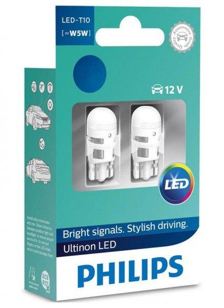 Купить Автолампы, Лампа светодиодная Philips W5W Ultinon 4000K (11961ULW4X2), PHILIPS Automotive