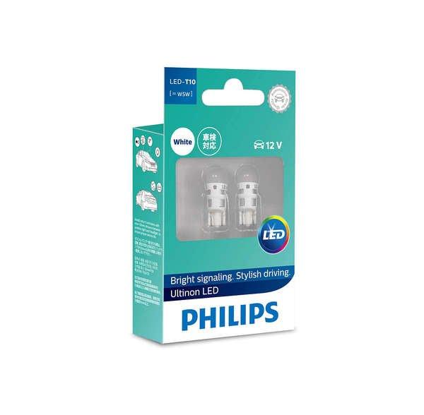 Купить Автолампы, Лампа светодиодная Philips W5W Ultinon 6000K (11961ULWX2), PHILIPS Automotive