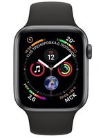 Смарт-часы Apple Watch Series 4 44mm Space Grey Aluminium Case with Black Sport Band